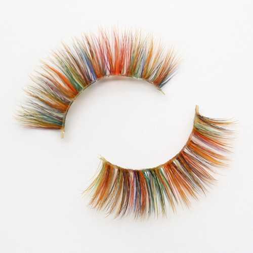 colored lashes CC