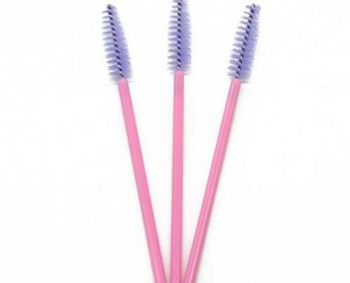 Purple head pink rod eyelash brushes