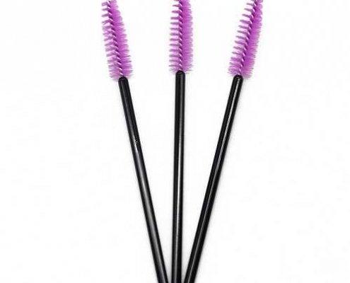 Antique pink head black rod eyelash brushes