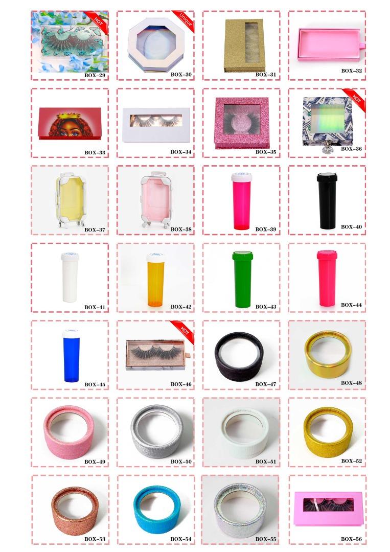 wholesale eyelashes boxes